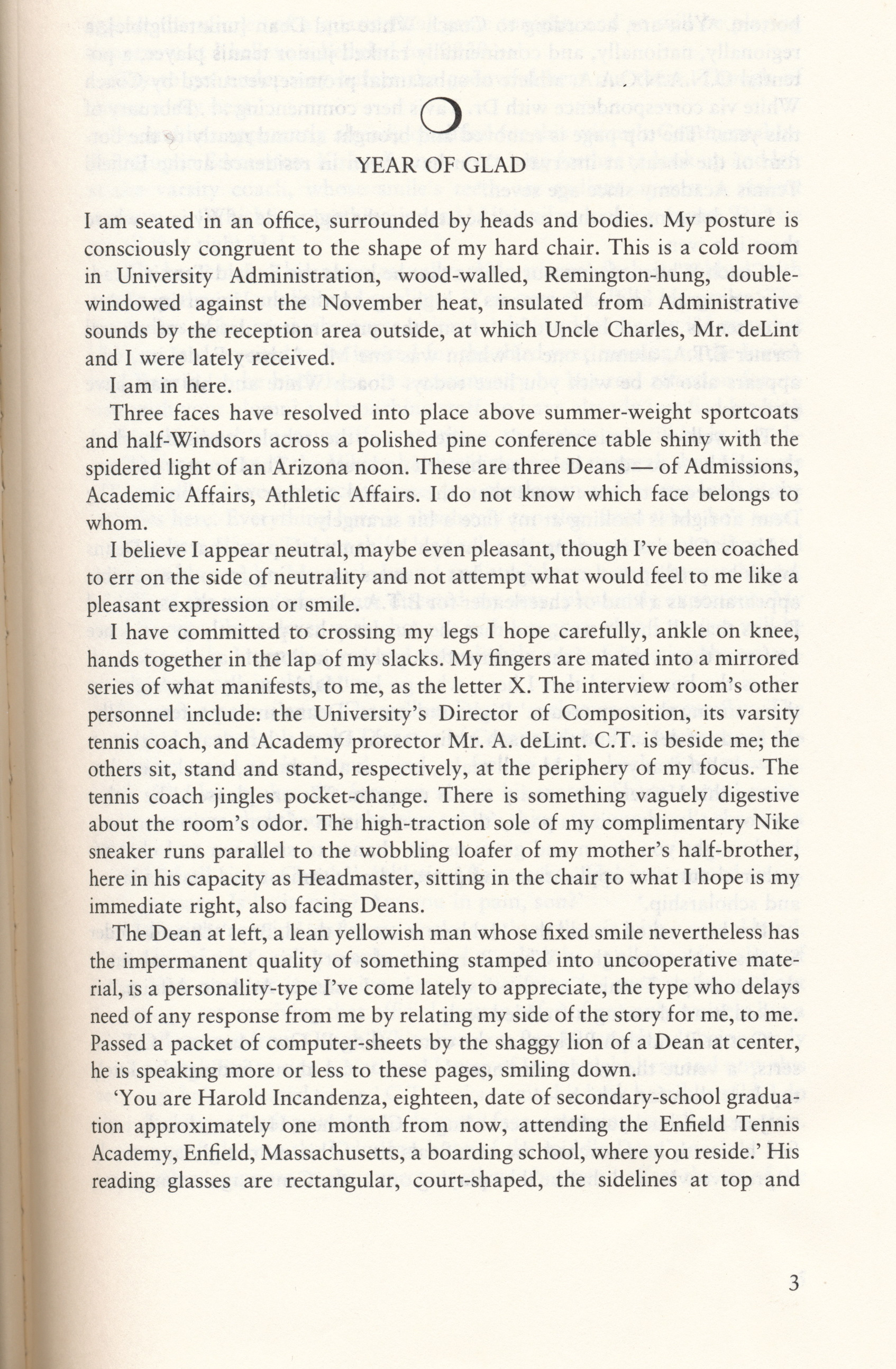 First Page Of Infinite Jest, In Case You Don't Have Your Own Dogeared